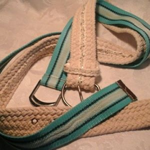 2 Belts - Web D-ring and Glitter Braided Rope